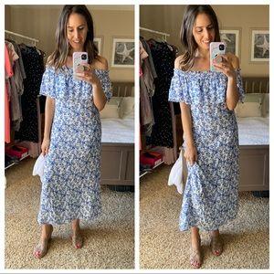 Rebecca Taylor off shoulder floral maxi dress